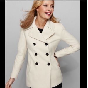 Calvin Klein White Pea Coat